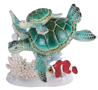 "6 1/2"" 2 Green Sea Turtles with Nimo 
