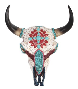 "11"" Buffalo Skull Wall Plaque 