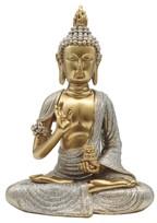 "GS88258 Praying Buddha in Blue//White 12/"" high"