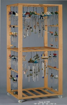 3 Wide Wooden Wind Chime Floor Display Rack Gsc Imports