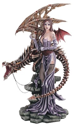 Large-scale Fairy with Dragon Skeleton