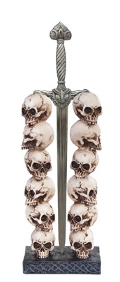 Skull Stack with Sword