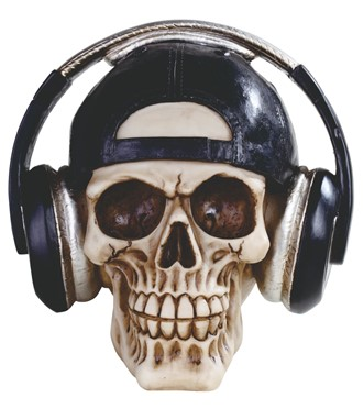 Skull with Headsets