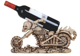Skull Motorcycle Wine Rest