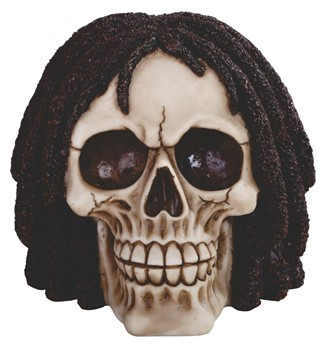 Skull with Curly Hair
