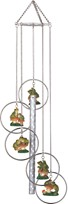 View 5-Ring Polyresin Frog Wind Chime
