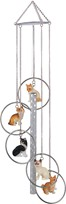 View 5-Ring Polyresin Cat Wind Chime