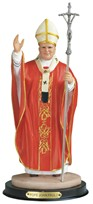"View 12"" Pope John Paul II Red"