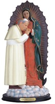 "View 12"" John Paul II with Guadalupe"