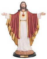 "View 16"" Sacred Heart of Jesus"