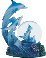 View Snow Globe Dolphin