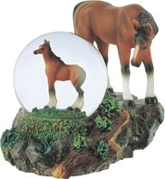 View Snow Globe horse with Foal