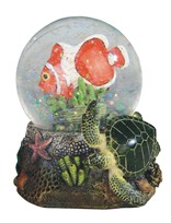 View Clownfish Snow Globe with Sea Turtle