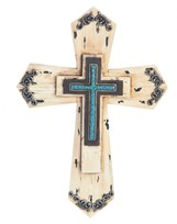 View Beige Wooden Cross
