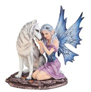 View Fairy with White Wolf