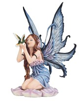 View Fairy with Hummingbird -Spring