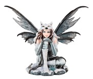 View Fairy Sitting with Wolf Cap