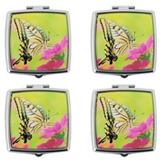 View Pill Box-Square, Yellow Butterfly 4pc Set---