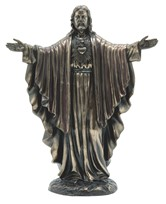 "View 12"" Bronze Sacred Heart of Jesus---"