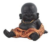 View Little Buddhist Monk in Golden/Black