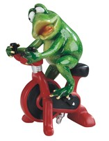 "View 7"" Frog on Cycling Bike"