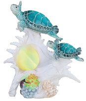 View LED Sea Turtle with Conch