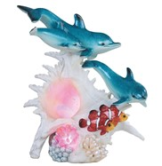 View LED Dolphin with Clownfish