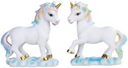 View Lucite Unicorn with Rainbow Mane 2 pc Set