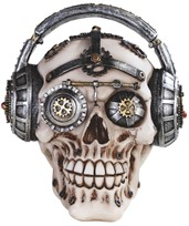 View Robotic Skull with Headset