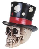 View Skull with Poker Top Hat