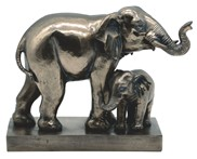 View Bronze Elephant with Cub