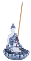 View Blue Buddha Incense Burner