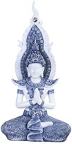View Blue and White Buddha Praying