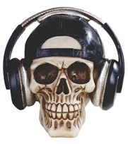 View Skull with Headsets