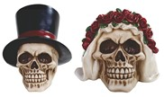 View Skull Set, Groom and Bride