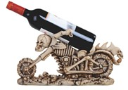 View Skull Motorcycle Wine Rest