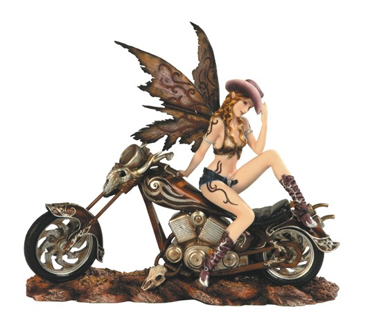 Cowgirl Fairy on Motorcycle | GSC Imports