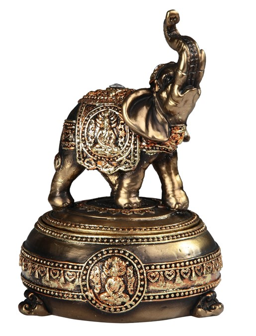 Golden Thai Elephant Trinket Box | GSC Imports