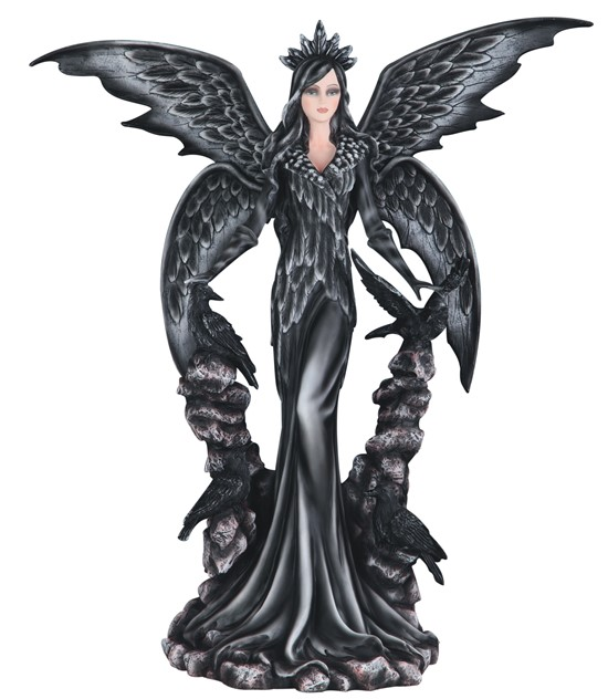 25 1 2 Quot Dark Angel Fairy With Raven Gsc Imports